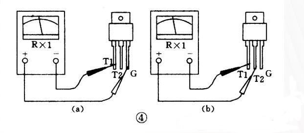 如何用万用表判断晶闸管电极?
